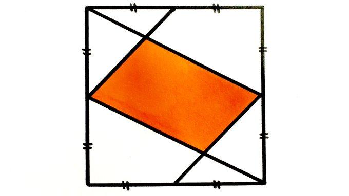 Solución: ¿Qué fracción del cuadrado está sombreada?