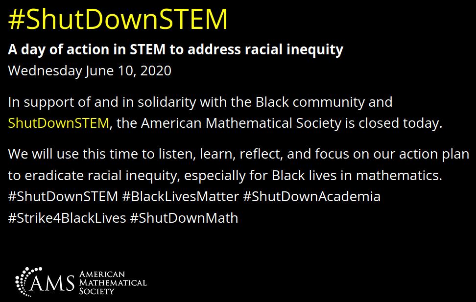 #ShutDownSTEM